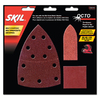Skil 15-Pack 4-in W x 4-in L Multi-Grade Pack Commercial Assortment for Different Tasks Sandpaper