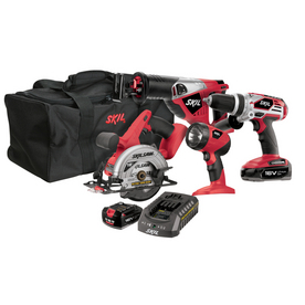 Skil 4-Tool 18-Volt Lithium-Ion Cordless Combo Kit