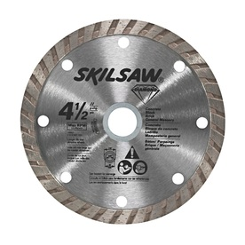 Skil 4-1/2-in Wet or Dry Turbo Diamond Circular Saw Blade