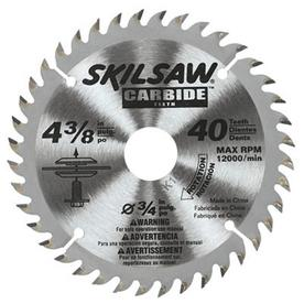 Skil 4-3/8-in 40-Tooth Standard Carbide Tooth Circular Saw Blade