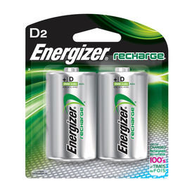 Energizer 2-Pack D Rechargeable Batteries NH50BP-2