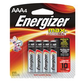 Energizer 4-Pack AAA Alkaline Battery