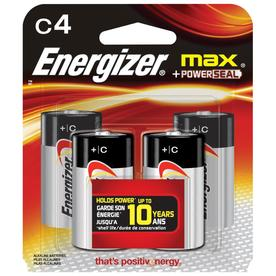 Energizer 4-Pack C Alkaline Battery