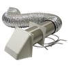 Lambro 4-in x 5-ft UL Transition Duct Vent Kit