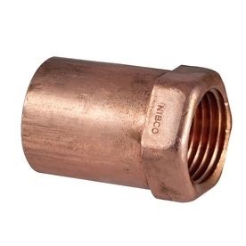 1/2-in x 1/4-in Copper Threaded Adapter Fitting