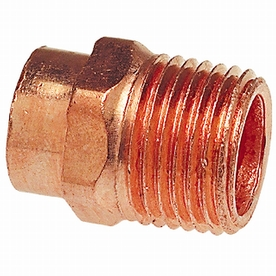 1/2-in x 3/4-in Copper Threaded Adapter Fitting
