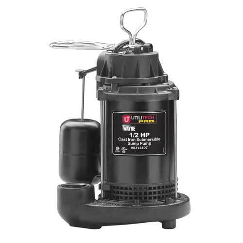 utilitech 1 2-hp stainless steel 70 gpm submersible sump pump