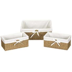 Household Essentials 3-Piece Wicker Basket