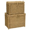 Household Essentials Seagrass Storage Trunk