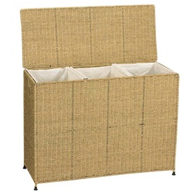 Household Essentials Wicker Basket or Clothes Hamper