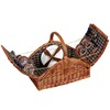 Household Essentials 19.5-in W x 17.5-in H Brown Wicker Basket