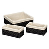 Household Essentials Paper Rope Utility Basket - Set of 3