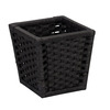 Household Essentials Paper Rope Waste Bin - Black