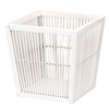 Household Essentials 11.5-in W x 11.5-in D Bamboo/Wood Basket