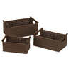 Household Essentials Paper Rope Basket Set of 3