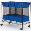 Household Essentials 32.5-in x 35.375-in x 17.75-in Freestanding Vinyl Laundry Sorter