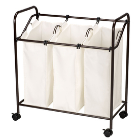 Style Selections 33.25-in x 30.37-in x 15.37-in Freestanding Metal Laundry Sorter