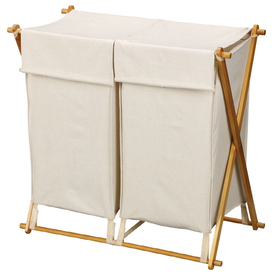 Household Essentials Wood Clothes Hamper