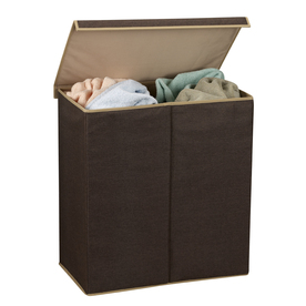 Household Essentials Mixed Materials Basket or Clothes Hamper