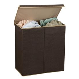 Household Essentials 1-Piece Mixed Materials Clothes Hamper