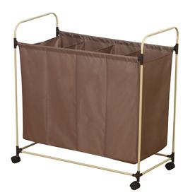 Household Essentials Mixed Materials Basket or Clothes Hamper