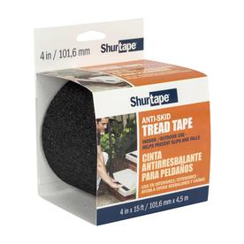 Shurtape 4-in x 15-ft Black Safety Tape
