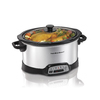 Hamilton Beach 6-Quart Silver Oval Slow Cooker