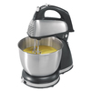 Hamilton Beach 4-Quart 6-Speed SS and Black Plastic Stand Mixer