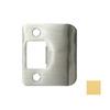 DON-JO Brass Entry Door Standard Latch Strike Plate