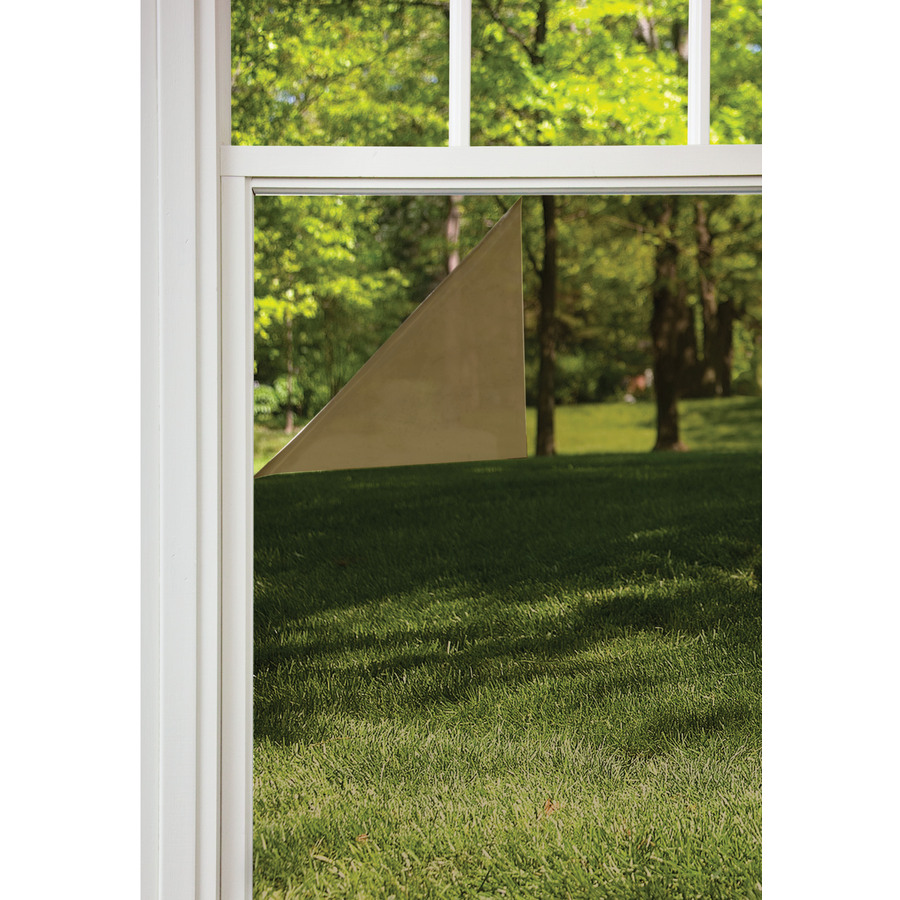Shop gila 36 in w x 78 in l bronze glare control static for Window film lowes