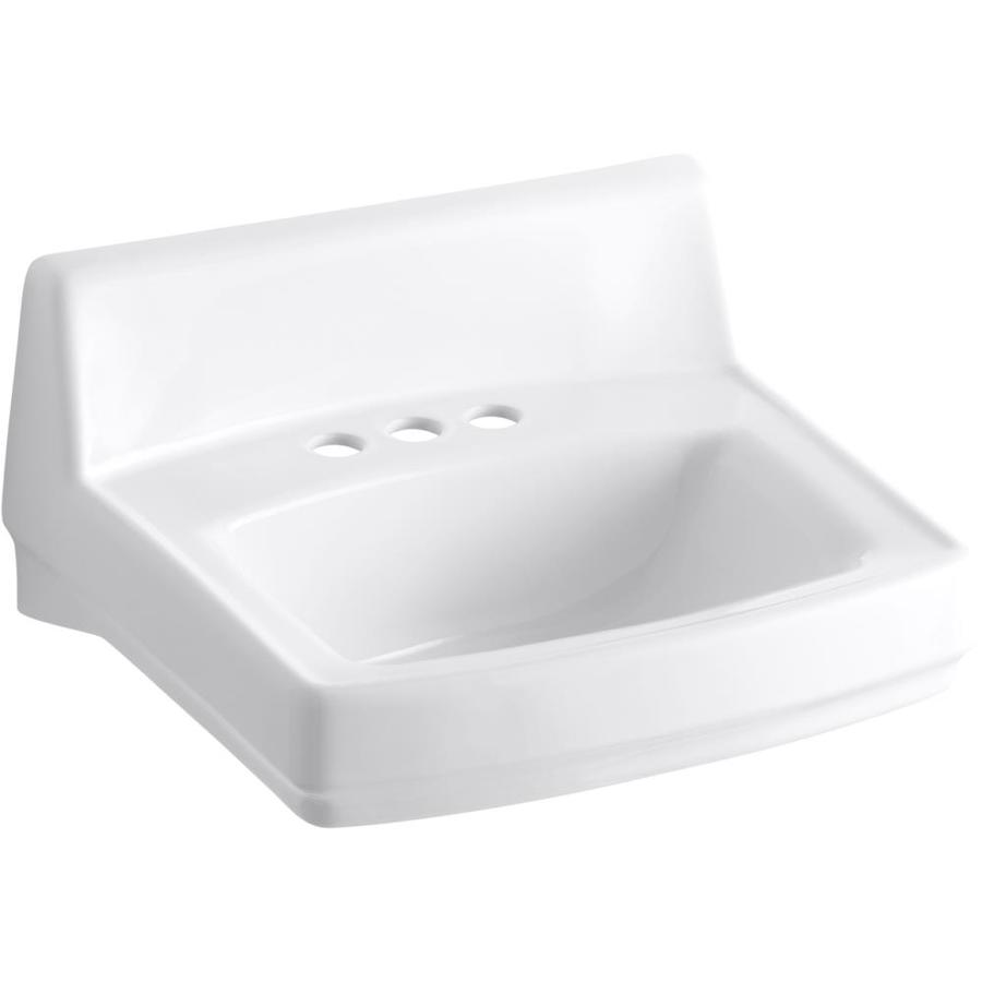 Kohler Ada Sinks : Shop KOHLER Greenwich White Wall-Mount Rectangular Bathroom Sink with ...