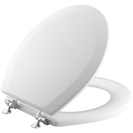 KOHLER Triko White Wood Round Toilet Seat