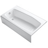 KOHLER Villager Cast Iron Hourglass In Rectangle Alcove Bathtub with Left-Hand Drain (Common: 34-in x 60-in; Actual: 14-in x 34.25-in x 60-in)