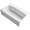 KOHLER Villager Cast Iron Hourglass In Rectangle Alcove Bathtub with Right-Hand Drain (Common: 34-in x 60-in; Actual: 14-in x 34.25-in x 60-in)