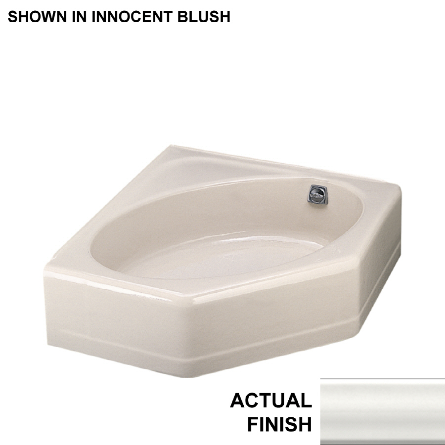 Shop KOHLER 48 In X 44 In Mayflower White Corner Skirted Bathtub With Right H