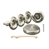 KOHLER Flexjet Whirlpool Trim Kit, Vibrant Brushed Nickel