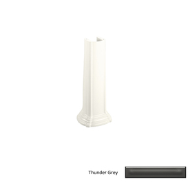 KOHLER 26-1/8-in H Vitreous China Pedestal Sink Base