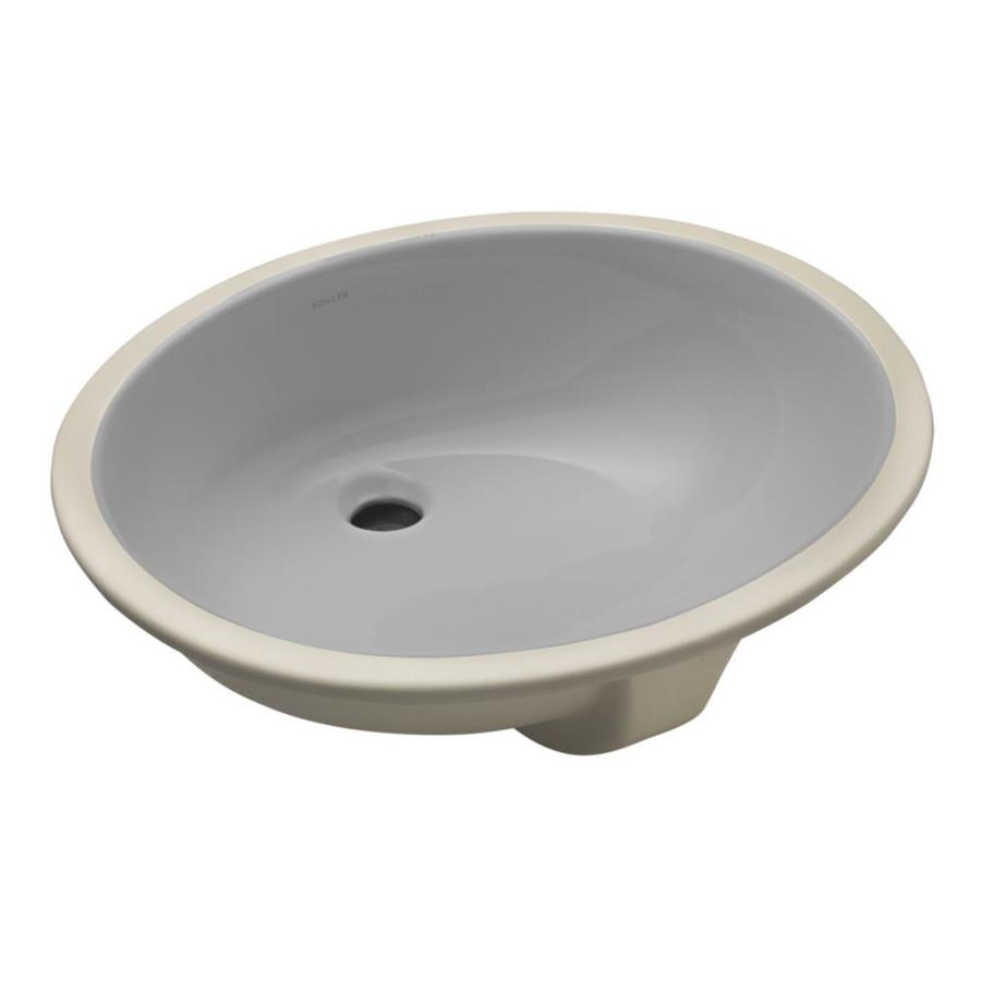 Shop KOHLER Caxton Ice Grey Undermount Oval Bathroom Sink with ...