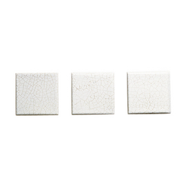 KOHLER 6-Pack Fables & Flowers White Glazed Porcelain Square Accent Tile (Common: 4-1/2-in x 4-1/2-in; Actual: 4.25-in x 4.25-in)