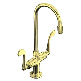 Kohler Brass Kitchen Faucet : KOHLER Essex Vibrant Polished Brass 2-Handle High-Arc Kitchen Faucet ...