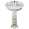 KOHLER Portrait 36.5-in H White Vitreous China Pedestal Sink
