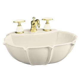 Elliston Pedestal Sink : ... KOHLER 21.75-in L x 18.25-in W Almond Vitreous China Pedestal Sink Top