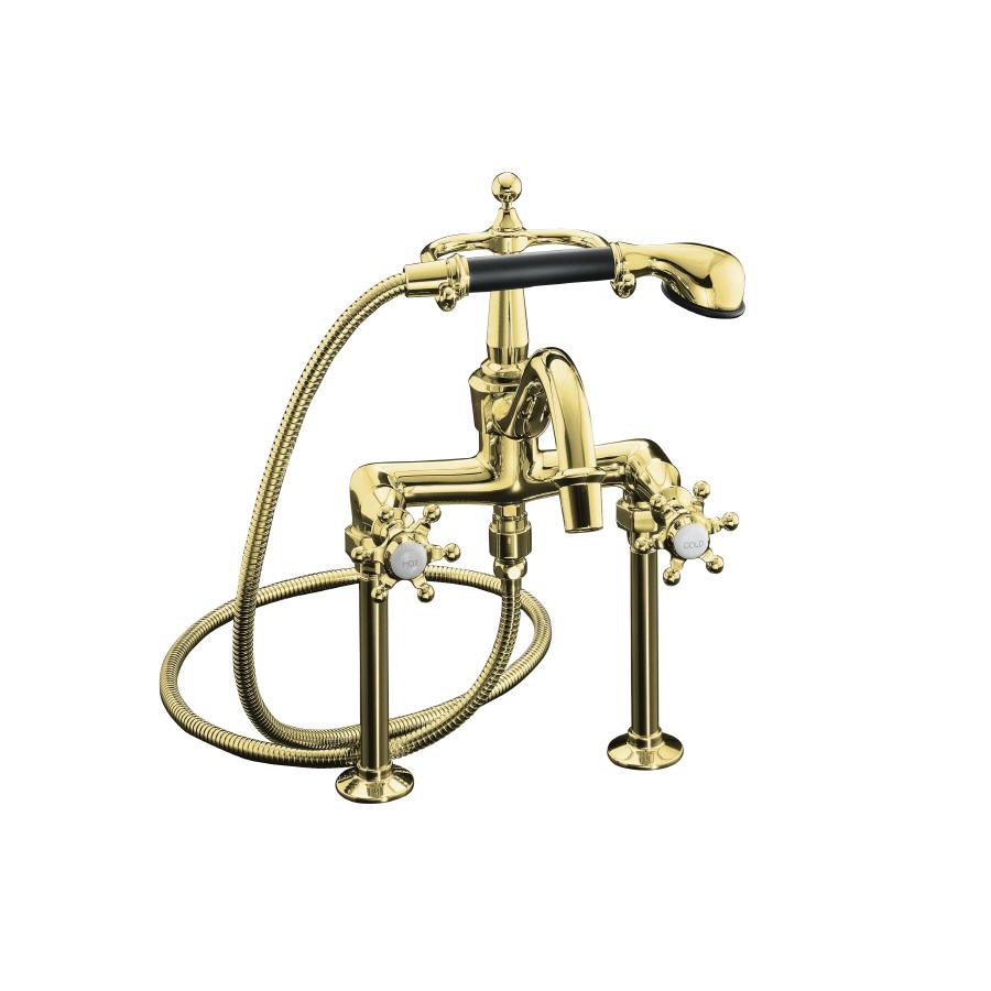 Kohler Brass Faucet : Shop KOHLER Antique Vibrant Polished Brass 2-Handle Bathtub Faucet ...