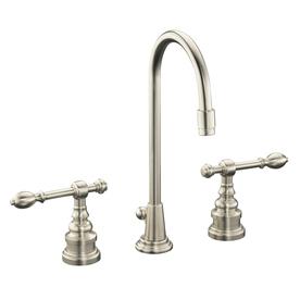 KOHLER IV Georges Brass Vibrant Brushed Nickel 2-Handle Widespread WaterSense Bathroom Faucet (Drain Included)