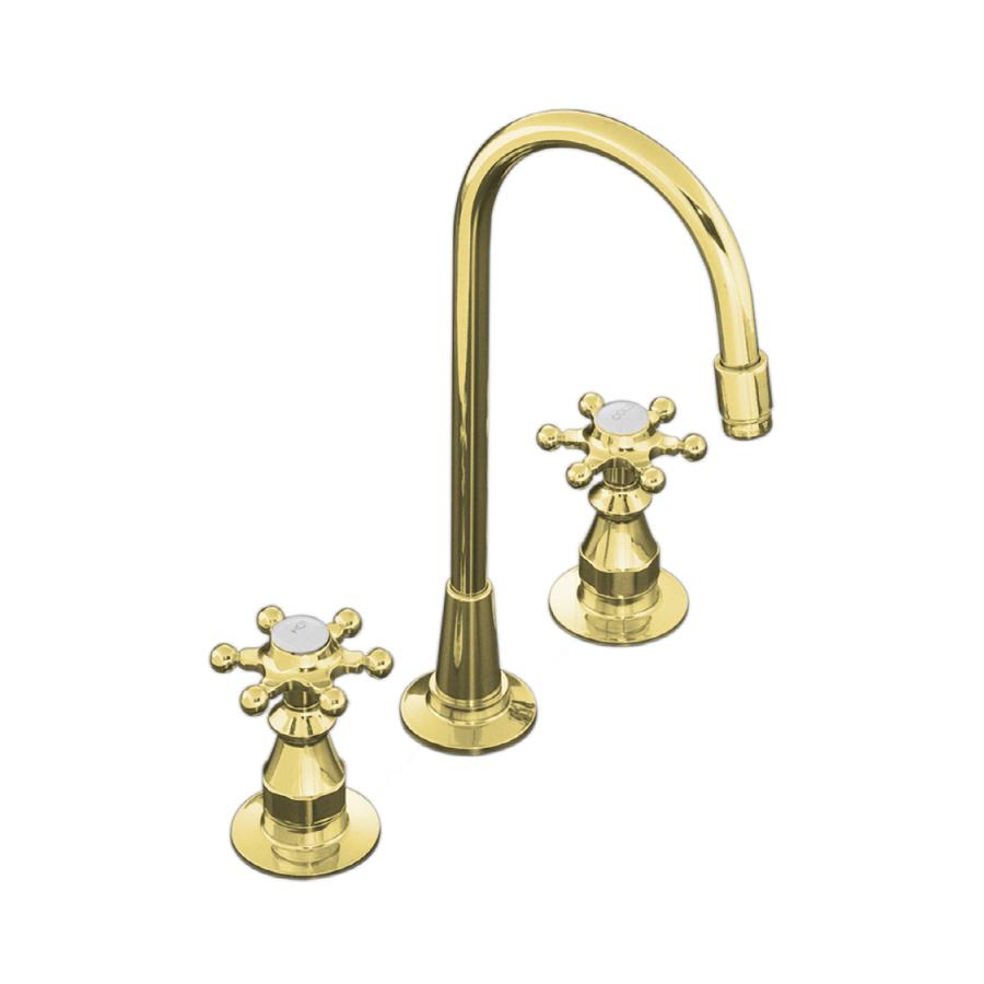 Kohler Brass Faucet : Shop KOHLER Antique Vibrant Polished Brass 2-Handle Bar Faucet at ...