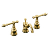 KOHLER IV Georges Brass Vibrant Polished Brass 2-Handle Widespread WaterSense Bathroom Faucet (Drain Included)