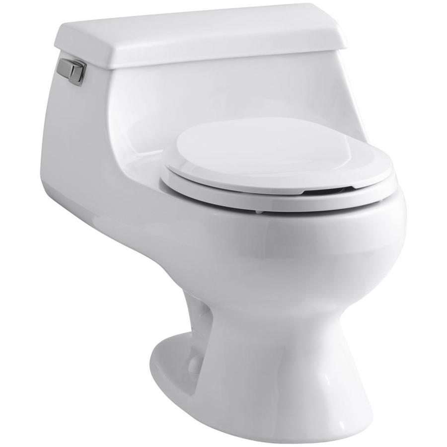 Cheap Kohler Toilets : Shop KOHLER Rialto White 1.6 GPF Round 1-Piece Toilet at Lowes.com
