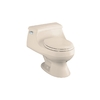 KOHLER Rialto Innocent Blush 1.6 GPF Round 1-Piece Toilet