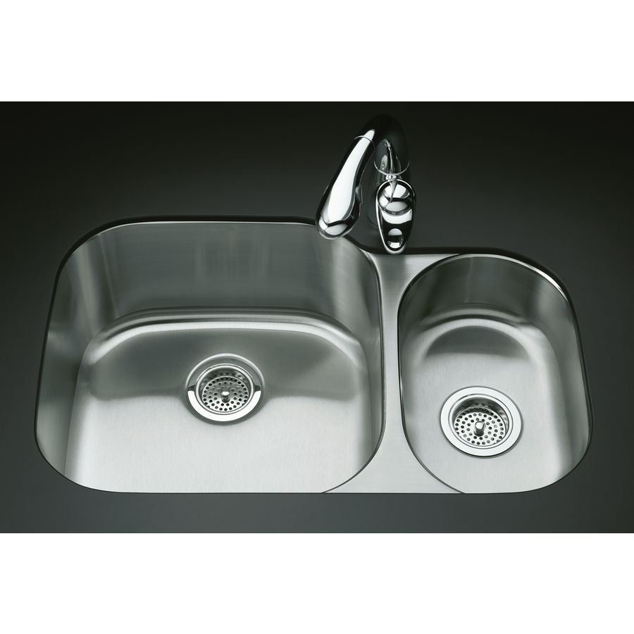 Shop Kohler Undertone Stainless Steel Double Basin Undermount Kitchen Sink At