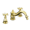 KOHLER Antique Vibrant Polished Brass 2-Handle Fixed Deck Mount Tub Faucet